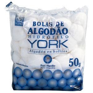 Algodão bola York 50g.