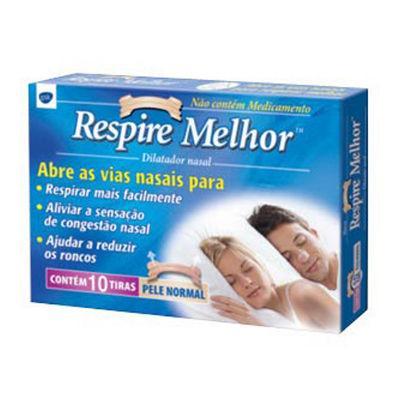 Dilatador nasal médio Respire Melhor (10 unid.)