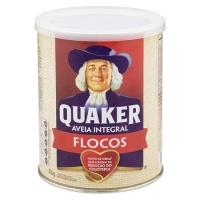 Aveia em flocos regular Quaker lata 450g.