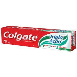 Creme dental Colgate tripla ação menta  90g.