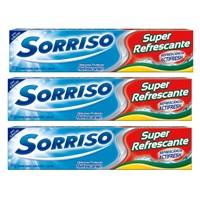 Creme dental Sorriso super refrescante 90g (pacote c/ 3 unid.)
