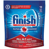 Detergente para máquina lava louças tablete Finish 211g