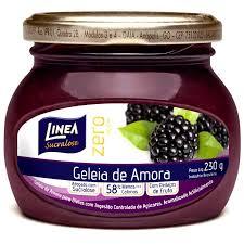 Geléia de amora zero açúcar Linea 230g.