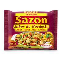 Tempero em pó sabor do nordeste carnes / aves / peixes Sazón  60g.