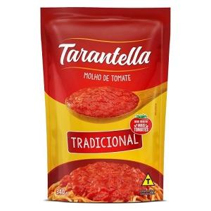 Molho de tomate tradicional Tarantella  sachê 340g.