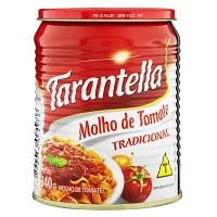 Molho de tomate tradicional Tarantella lata 340g.