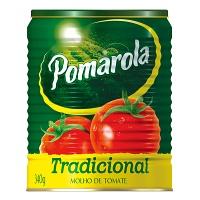 Molho de tomate tradicional Pomarola lata 340g.