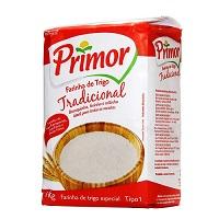 Farinha de trigo Primor 1kg.