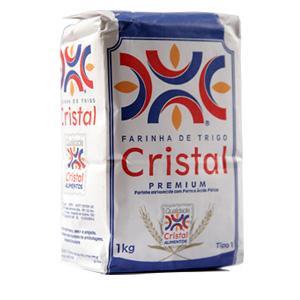 Farinha de trigo Cristal 1kg.
