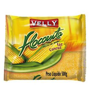 Flocovita (cuscuz) flocos de milho Velly 500g.