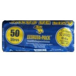 Saco azul para lixo extrusa pack rolo 50lts./10kg. (20 unidades)