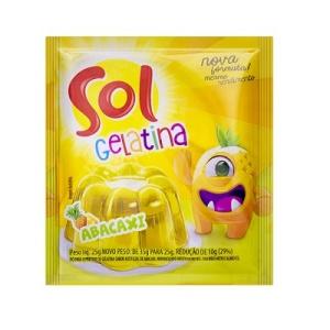 Gelatina Sol abacaxi 25g.