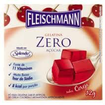 Gelatina zero de cereja Fleischmann 12g
