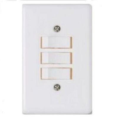 Interruptor branco 3 teclas  Ilumi