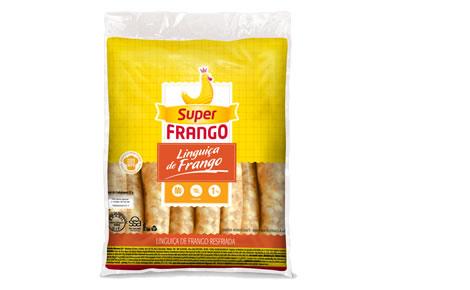 Linguiça fina de frango resfriada Super Frango 800g