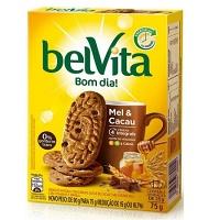 Biscoito Belvita mel e cacau 75g.