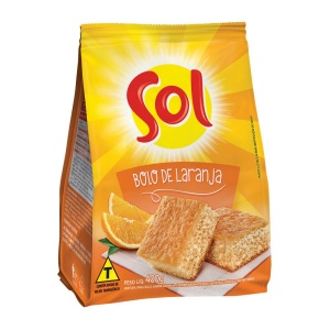 Mistura para bolo de laranja Sol 400g.