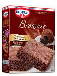 Mistura para brownie chocolate e Petit Gateau Dr. Oetker 430g