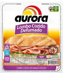 Lombo cozido defumado tipo fatiado Aurora 200g.
