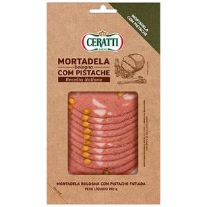 Mortadela Bologna com pistache fatiada Ceratti 150g