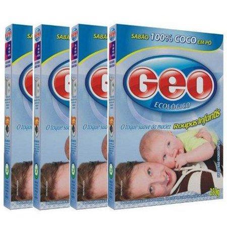 Sabão de coco em pó Geo roupas infantis (pack c/ 4 unid.)