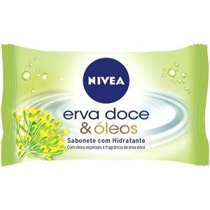 Sabonete hidratante Nivea erva doce 90g.