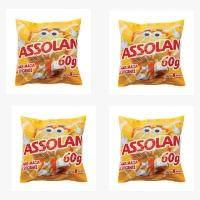 Lã de aço Assolan 60g. (pacote c/ 4 unidades)