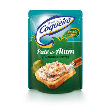 Patê de Atum com azeitonas verdes Coqueiro 170g.