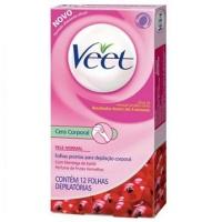 Folha depilatória corporal manteiga karité  pele normal Veet 12x1