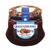 Geléia frutas vermelhas diet Queensberry 320g.