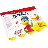 Petit suisse Danone Danoninho morango e banana 480g.