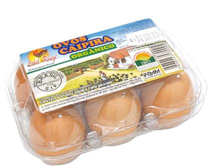 Ovos caipira orgânico 6x1