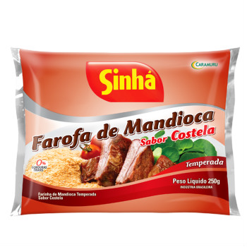 Farofa de mandioca sabor costela Sinhá 250g