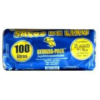 Saco azul para lixo extrusa pack rolo 100lts./10kg.