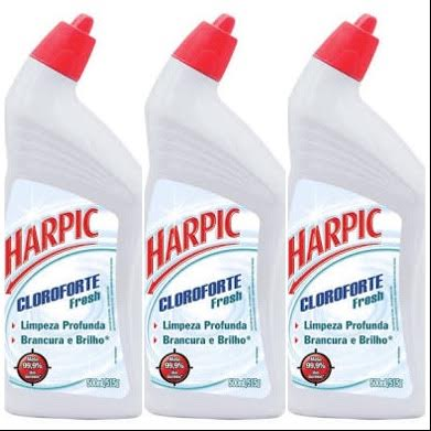 Desinfetante Harpic cloro forte 500ml. (pacote c/3 unid.)