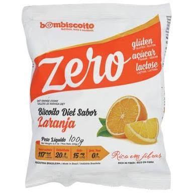 Biscoito Zero Açúcar sabor laranja Bom Biscoito 100g