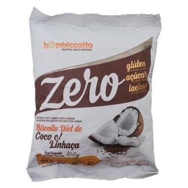 Biscoito Zero Açúcar sabor coco c/ linhaça Bom Biscoito 100g