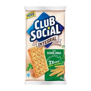 Biscoito Club Social integral com cebolinha 144g.