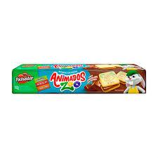 Biscoito recheado de chocolate Animados Zoo Richester 135g