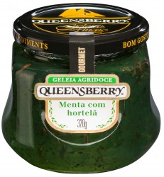 Geléia de menta c/ hortelã Queensberry 320g.
