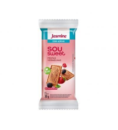 Biscoito Sou Sweet Frutas Vermelhas zero açucar Jasmine 90g