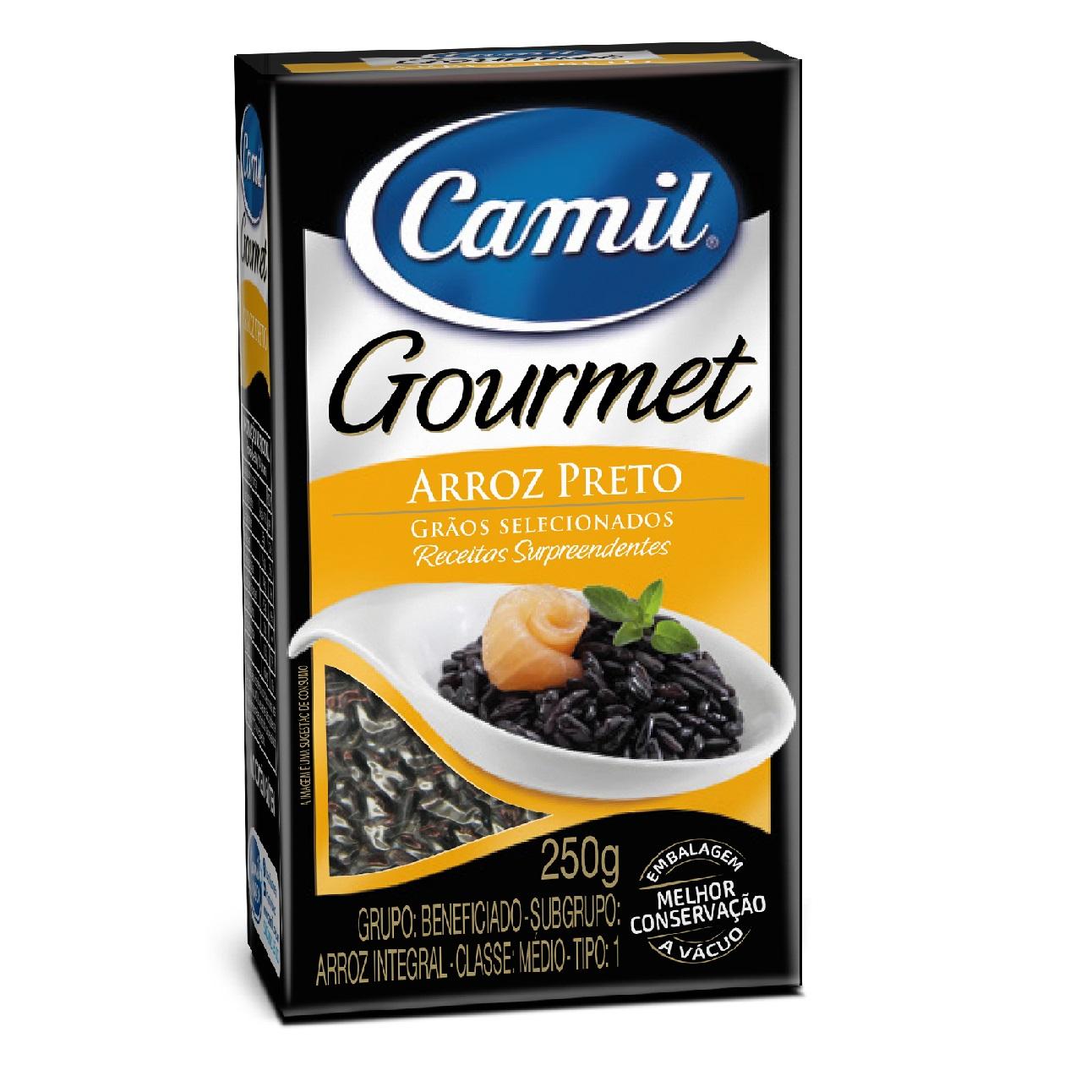 Arroz integral preto Gourmet Camil 250g