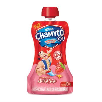 Iogurte líquido sabor morango Chamyto Go Nestlé 100g