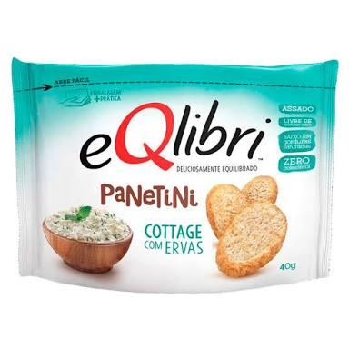 Biscoito panetine sabor Cottage e ervas Eqlibri 45g