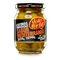 Azeitonas temperada sabor mediterrâneo Vale Fértil 150g