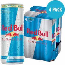 Energético Red Bull suggar free 250ml. ( pacote c 4 unid.)