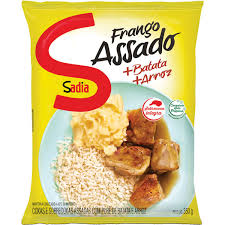 Frango assado + batata + arroz Sadia 350g