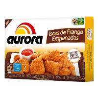 Iscas de frango empanadas Aurora 300g