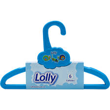 Kit de cabide azul infantil Lolly 6x1