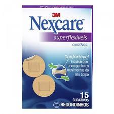 Curativos redondos e flexíveis para joelhos e cotovelos Nexcare 15x1